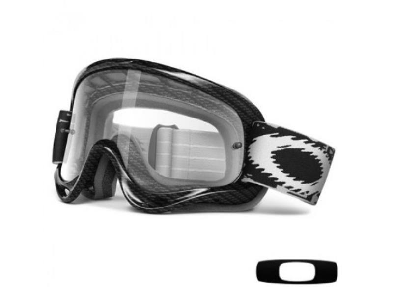 d32fb5a850587 Oakley Maschera occhiali da moto cross MX O Frame Carbon Fiber   eBay