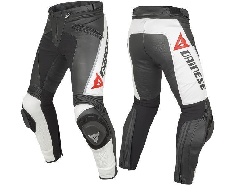Dainese Pantaloni moto Delta Pro C2 con saponette Nero/Bianco tg. 50