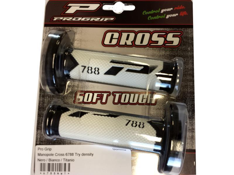 Accessori moto - Pro Grip Manopole Cross 6788 Try density Nero / Bianco / Titanio in offerta con sconto 15% prezzo 18,98 euro foto 0